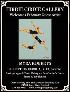 Reception - Guest Artist Myra Roberts @ Hirdie-Girdie Art Gallery | Sanibel | Florida | United States