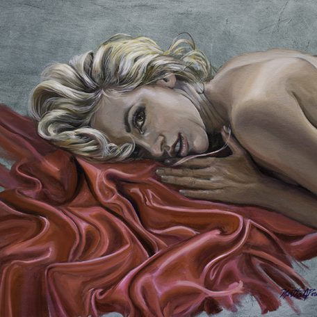 A digital photograph of a painting by Martha Dodd called Natasha