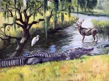 a digital photo of Alligator Repose