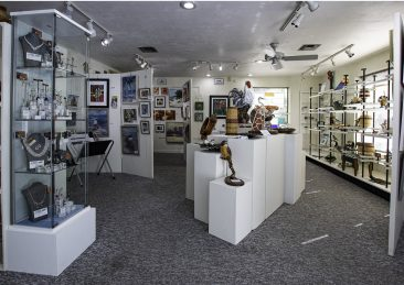 view 1 of interior of Hirdie Girdie Gallery