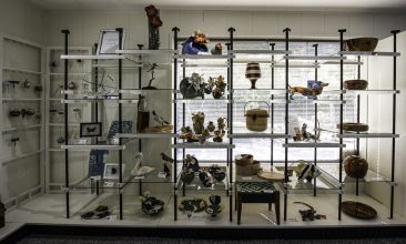 shelves in hirdie girdie gallery