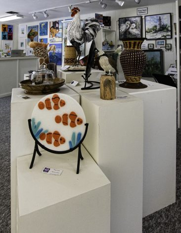 sculptures by various artistas in Hirdie Girdie Gallery
