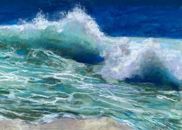 painting of crashing waves