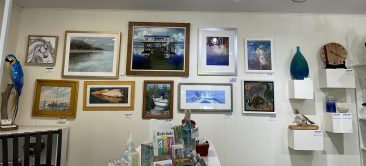 main gallery wall showing each hirdie girdie gallery artists work