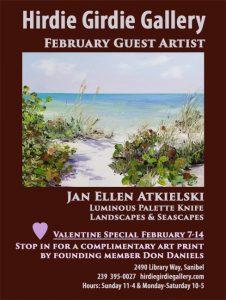 Guest Artist Jan Ellen Atkielski February 2021 @ Hirdie Girdie Gallery | Sanibel | Florida | United States